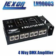 Фото LEXOR LN90003 4 Way DMX Amplifier  блок гальванической развязки